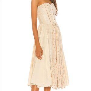 NWT Free People Amanda Cotton Gauze Midi Dress